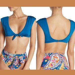 NWT Trina Turk Getaway Front Knot Bikini Top 14
